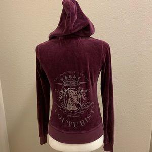 Juicy Couture Rhinestone Velour Hoodie Jacket